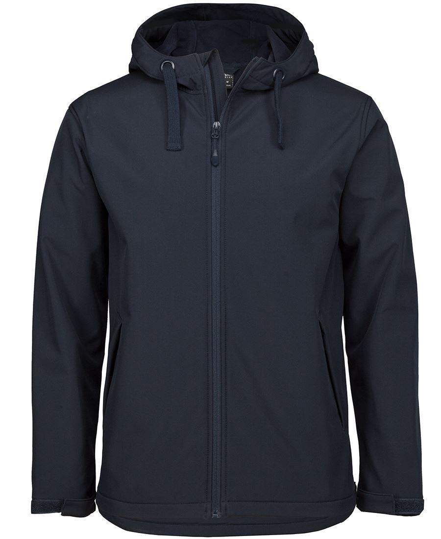 Water Resistant Hooded Softshell Jacket