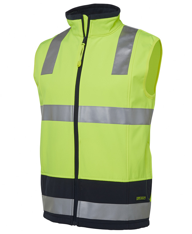 JB Hi Vis Water Resistant Layer Softshell Vest