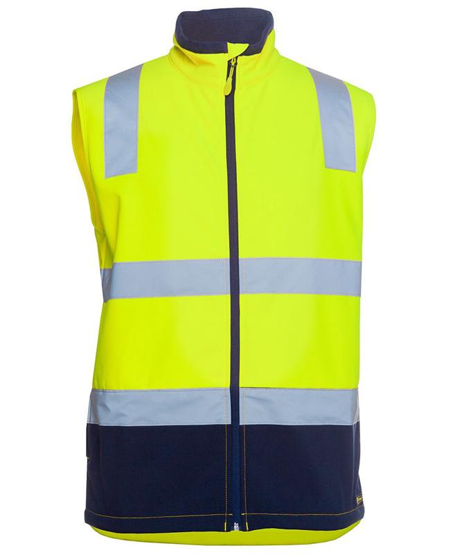 JB Hi Vis Water Resistant Softshell Vest