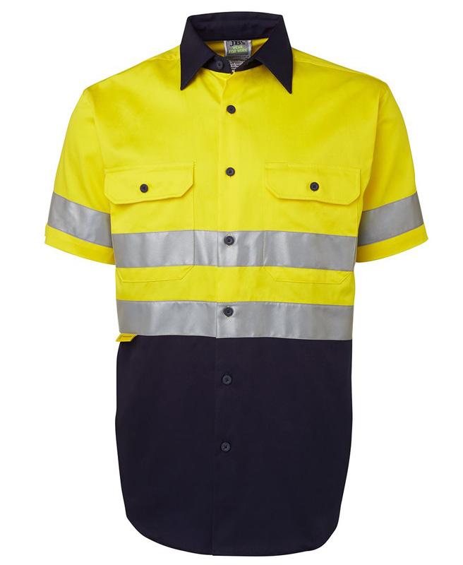 JB Hi Vis Long & Short Sleeve 190G Shirt 3M