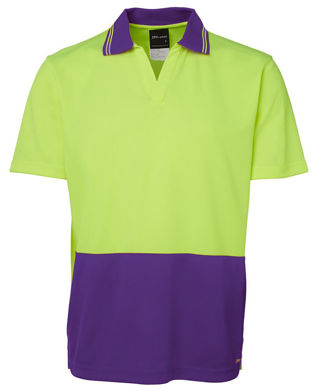 JB Hi Vis S/S Non Button Polo