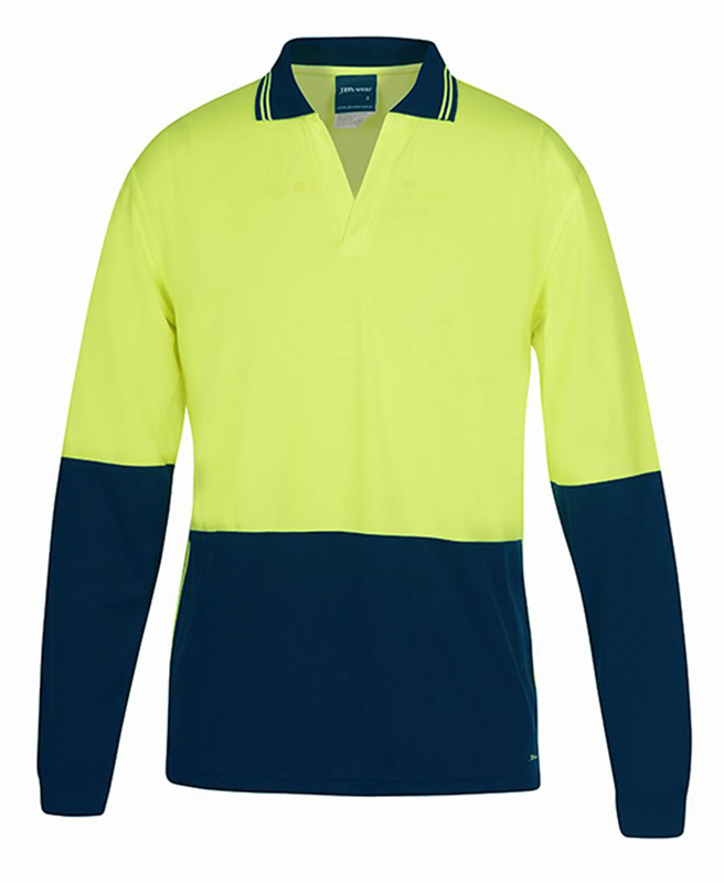 JB Hi Vis L/S Non Button Polo