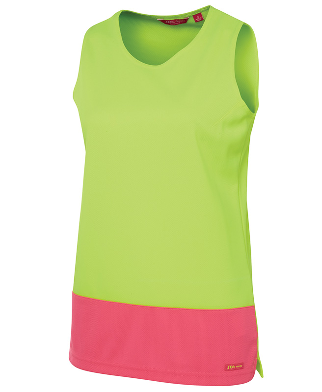 JB Ladies Hi Vis Traditional Singlet