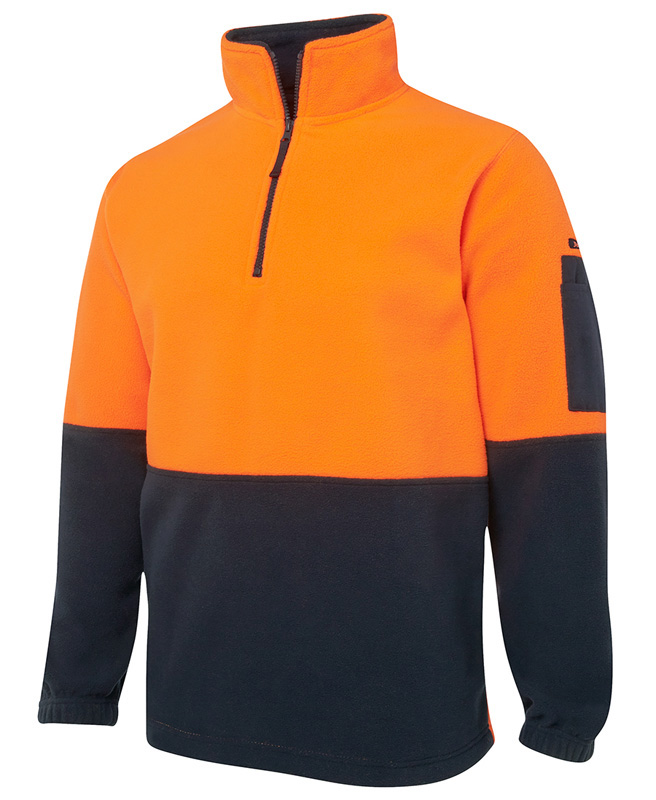JB Hi Vis Half Zip Polar Fleece