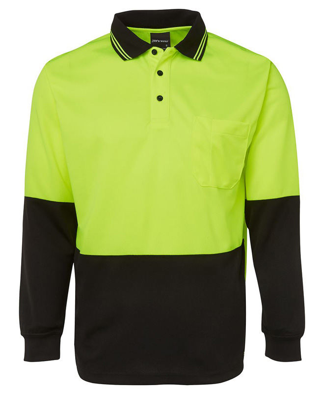 JB Hi Vis L/S Traditional Polo
