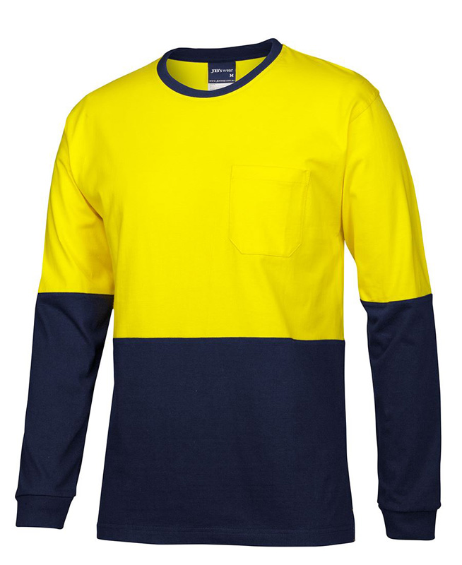 JB Hi Vis L/S Cotton T-Shirt