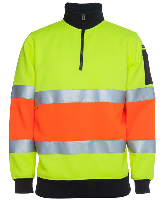 JB Hi Vis 1/2 Zip (D+N) Fleecy Sweat
