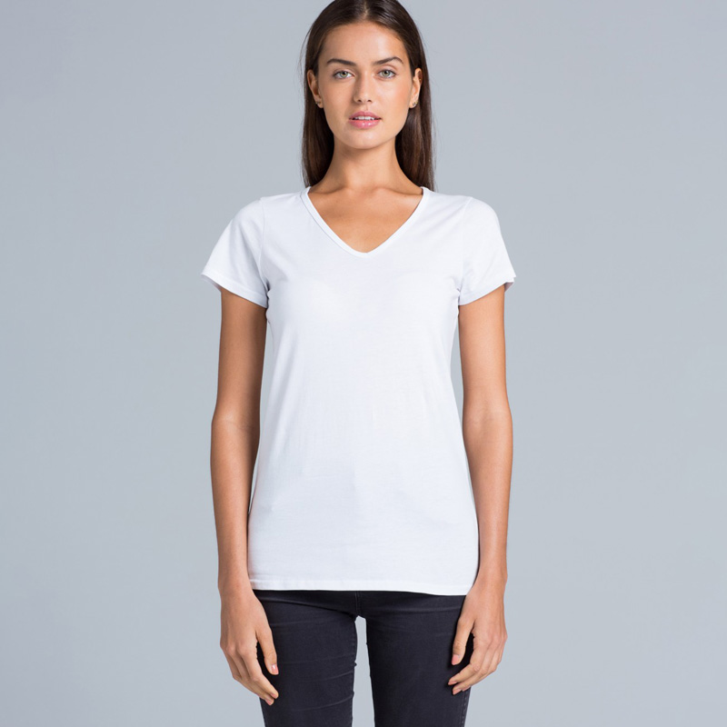 AS Colour Bevel V-Neck Tee