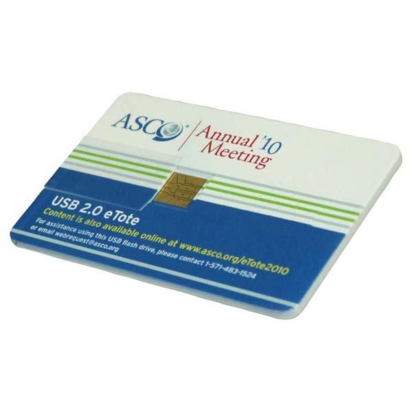 Flip Credit Card Flash Drive 2GB