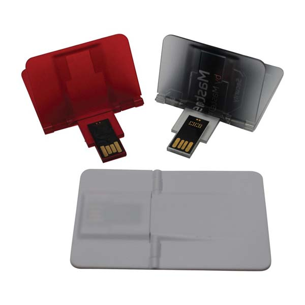 Credit Card Flip Flash Drive 2GB