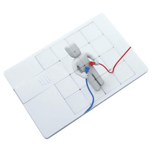 Puzzle Credit Card Flash Drive 2GB