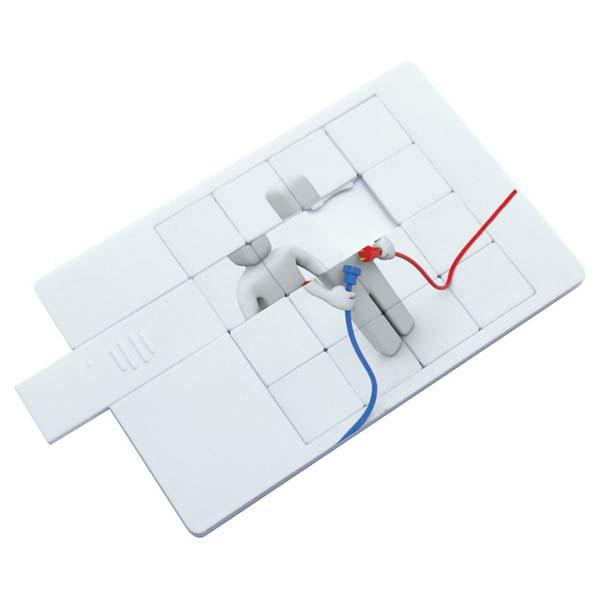 Puzzle Credit Card Flash Drive - 4GB