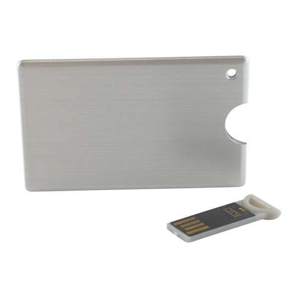Alu Slide Credit Card Drive - 4GB