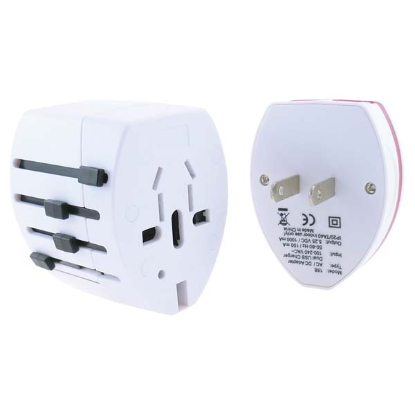 Slide USB Travel Adaptor