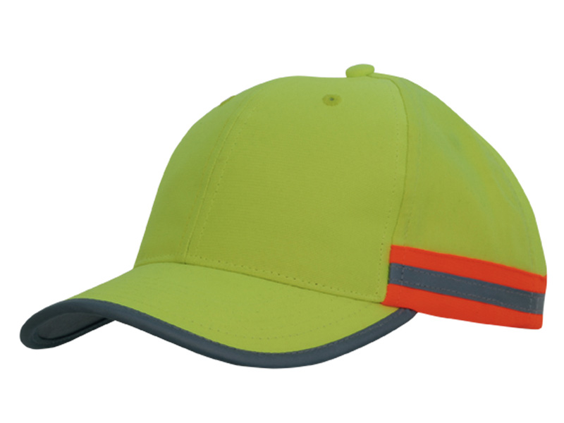 Hi Vis Cap with Reflective Tape