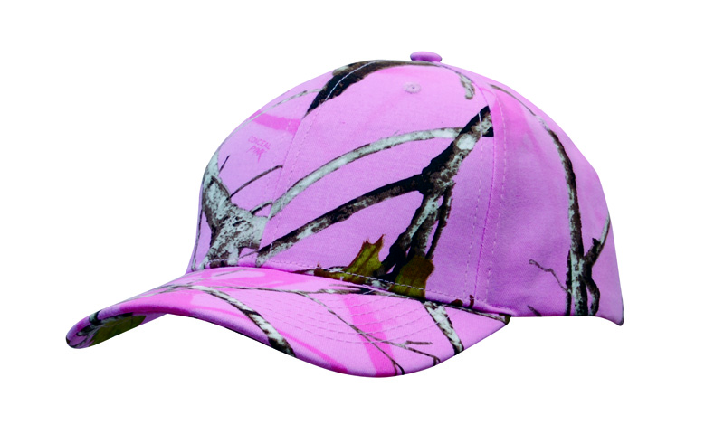 Pink Timber Camouflage Cap