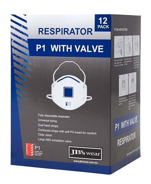 P1 Respirator With Valve 12pc