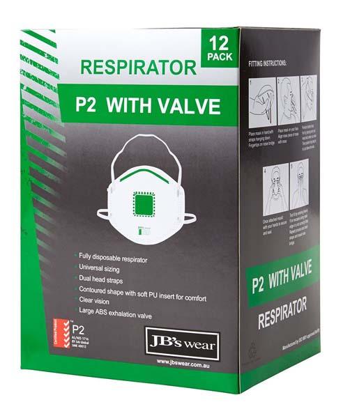 P2 Respirator With Valve 12pc