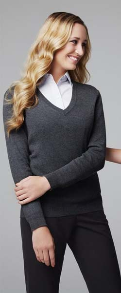 Ladies V Neck Pullover
