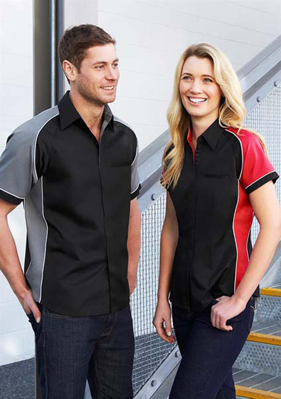 Nitro Contrast Panel Short Sleeve Shirt