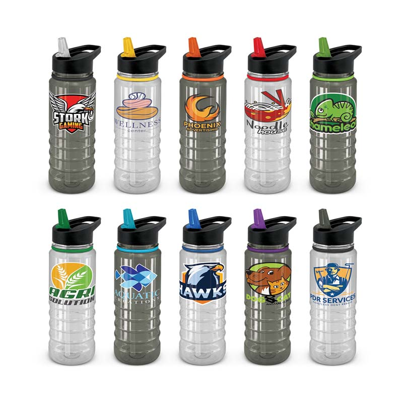 Clear and Black Triton Elite Drink Bottle 750ml