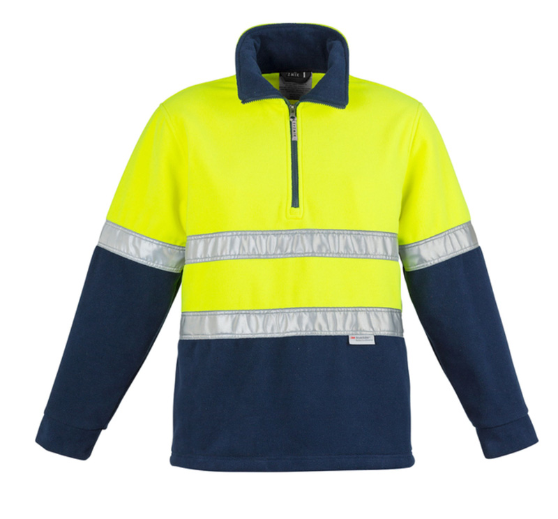 Syzmik Hi Vis Fleece Jumper - Hood Taped